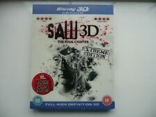 Saw - The Final Chapter (3D Blu-ray, 2011) with lenticular slip cover