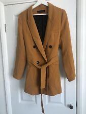 Zara Mustard Belted Blazer Size M