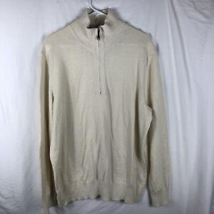 Lot Of 4 Banana Republic Sweaters Men's Sz XL Pullover 1/4 Zip Wool Cashmere
