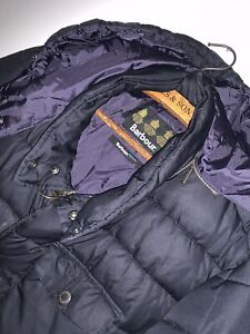 MEN'S BARBOUR FIBREDOWN PUFFER COAT! JACKET! BLACK! DESIGNER! RRP £159! SIZE XL!