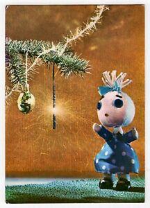 AK Weihnachten / Puppe mit Wunderkerze am Weihnachtsbaum, 1967