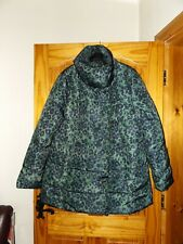 Next green Leopard print puffa jacket coat size 18