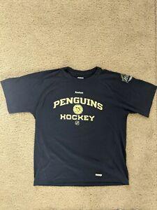 Reebok Pittsburgh Penguins NHL Navy Athletic Tee Adult Men's Large