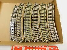 AR553-2# 26x Märklin H0/AC 5100 Gleisstück/Schienen gebogen M-Gleis sehr gut