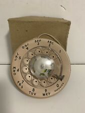 Vintage Peach Pink Western Electric Rotary Phone Dial NEW Phone Part NOS