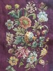ANTIQUE Small Upholstery Fabric Floral  Early 1900's Suitable For Framing