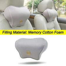 Gray Memory Cotton Foam Car Seat Headrest Pad Head Neck Cushion Pillow Soft