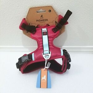 Gooby Pioneer for Small Dog Harness size L - Red with Blue