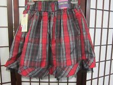 Girls Plaid Shirt with Black Lining by Cherokee New w/tags Size Xl 14/16 Elastic