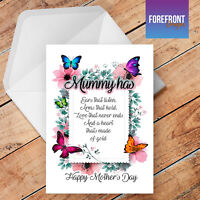 Personalised 'My Mum/Mummy' Poem birthday greeting card, Special gift/occasion