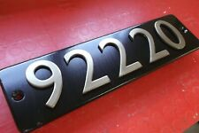 Reproduction Smokebox Numberplate 92220 Evening Star