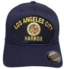 Los Angeles City Harbor Hat Flex fit Navy Blue Size L/XL