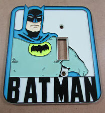 Vintage BATMAN 1976 Light Switch Plate Cover Hard Plastic DC Comics Super Hero