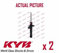 2 x FRONT AXLE SHOCK ABSORBERS PAIR STRUTS SHOCKERS KYB OE QUALITY 335808