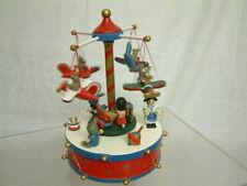 Spieldose Holz Spieluhr Mechanisch Karussell 2 Etagen Spielzeug Teddy Musik