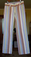 DOLCE GABBANA STRIPE MULTICOLOR PANTS JEANS TROUSERS SIZE  38 ITALY