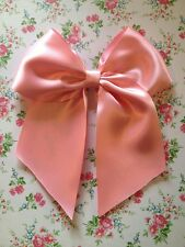 Pink Hair Bow Large Satin Lolita Sissy Cosplay Anime Fancy Dress Retro Vintage