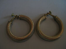 """Vintage 60's Large Hoops, Brushed Goldtone - signed Napier, 1.5"""""""