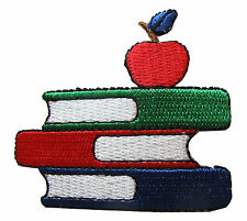 #3874 Embroidery Iron On Books and Apple Applique Patch