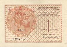 A   SAISIR    BILLET DE   1  DINARA   1919   YOUGOSLAVIE