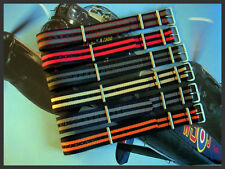 18 Black-Grey NATO G10 Nylon watchband strap RAF Bonded IW SUISSE 16 19 20 22 24