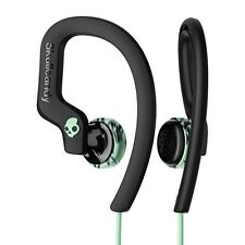Genuine Skullcandy Chops Flex Sport Gym Running Earphones - Black and Mint Green