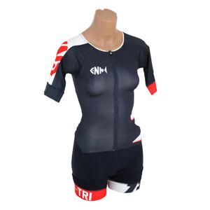 Zerod ttSuit Trisuit Damen Triathlon Anzug Suit Einteiler blau Langstrecken XS