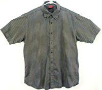 Levi's Red Tab Men's Shirt Large Short Sleeve Button Down Black/White Striped