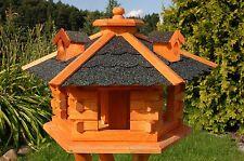 * Vogelhaus Vogelvilla Futterhäuser Vogelhäuschen Holz Vogel Dach in dunkel V16