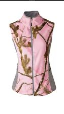 Pink Camo Fleece Vest Medium Realtree  Cabela's AP Women's Doe Camp Org.$54.99