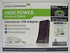 Amped Wireless High Power Wireless-N 500mW Directional USB Adapter (UA1000)