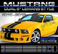 "2005 - 2009 Ford Mustang Dual 8"" Lemans Style Stripe Kit Dealer Quality Stripes"