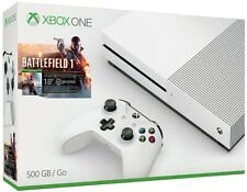 NEW Microsoft Xbox One S 500GB Battlefield 1 Gaming Console Bundle White