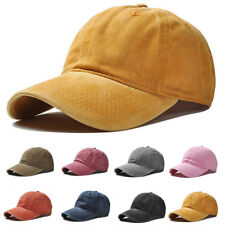 CO_ Solid Baseball Cap Plain Blank Strapback Adjustable Solid Hat Polo Style Exo