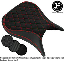 DSG2 B RED ST SUEDE VINYL CUSTOM FOR YAMAHA YZF R6 600 98-02 FRONT SEAT COVER