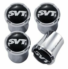 Ford Mustang, Focus, Cobra & Lightning Chrome &  SVT Logo Valve Stem Caps