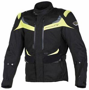 Motorcycle Waterproof Jacket > Macna Scope Textile Mens Black/Fluo Yellow SALE