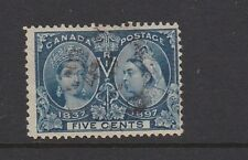 Canada 1897 Queen Victoria Jubilee Deep Blue 5c Fine Used SG128