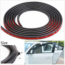 5M 2in1 Function D-Type Car SUV Hood Trunk Sealing Strip Sound Insulation Rubber