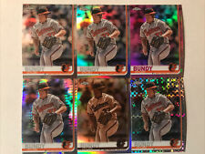 2019 Chrome Dylan Bundy Part. Rainbow 6 Card Lot Orioles  Pink Prism Sepia X