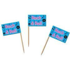 Rock N Roll Flag Picks (50 pack)