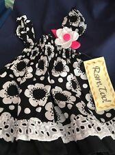 "Adorable Black & White ""Rave Too"" Brand Ruffled Dress 6/9mo"