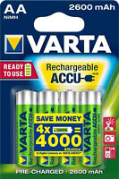 8x Varta AA Akku Mignon NiMH 2600mAh Ready to use 2x4er Blister 5716 1,2V