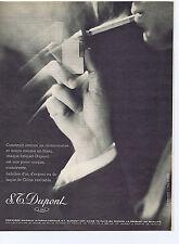 PUBLICITE ADVERTISING 1961 074 S.T. DUPONT Briquet au Gaz