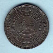 Australia Token. Rocke - 1859 1d..  Melbourne Vic.. Fine+