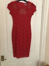 F & F Size 8 Red Lace Dress