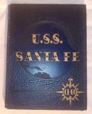 U S S Sante Fe Cruise Record 1946 Hard Cover United States Navy Yearbook Scarce