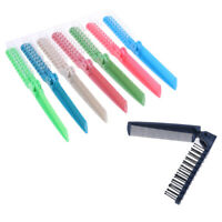 Plastic Double Headed Toothed Women Travel Foldable DIY Hair Beauty Comb EBDDAU