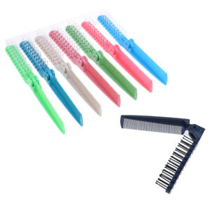 Plastic Double Headed Toothed Women Travel Foldable DIY Hair Beauty Comb Brus-xd