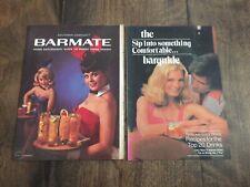 Vintage Playboy Southern Comfort Barmate & Recipe Bartender's Pamphlets    NICE!